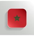 Button - Morocco Flag Icon vector image