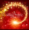 christmas magic glittering star vector image