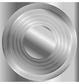 Circular brushed metal texture with dots vector image