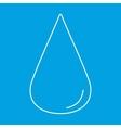 Drop thin line icon vector image