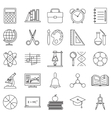 Education school icons set line art isolated vector image
