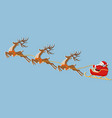 new year christmas picture of a deer sleigh and vector image