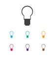 of bureau symbol on bulb icon vector image