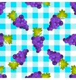Tartan plaid and grapes seamless pattern vector image