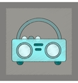 flat shading style icon tape recorder vector image