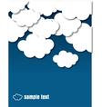 Cloud design document vector image vector image