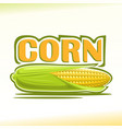 logo for corn vector image