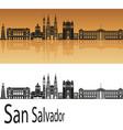 san salvador skyline vector image