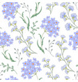 cute seamless floral pattern with flowers vector image
