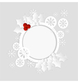 christmas card paper template vector image vector image