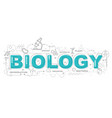 creative of biology with line icon vector image