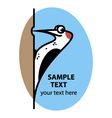 Cartoon woodpecker vector image vector image