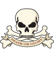skull and crossbones emblem vector image