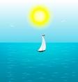 summer sail vector image vector image