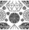 diamonds seamless grunge 04 vector image vector image