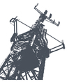 antenna grunge background vector image