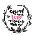 Love and charity concept hand lettering motivation vector image