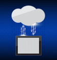 Cloud link background vector image