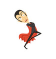 count dracula dancing vampire in black suit and vector image