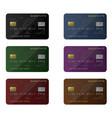 credit card set vector image