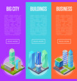 modern city architecture banners set vector image