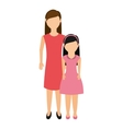 mother with daughter isolated icon vector image