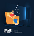 movie night vector image