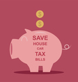 Piggy bank saving money vector image