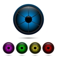 Segmented buttons vector image