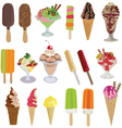 set of tasty ice creams vector image