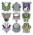set of sport colorful labels Design vector image