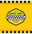 Taxi symbol with checkered background - 11 vector image vector image