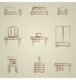 Icons for furniture vector image