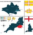 Dorset South West England vector image