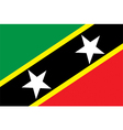 Flag of Federation of Saint Kitts and Nevis vector image
