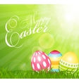 Happy Easter Spring Background vector image