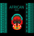 african blue borders and mask vector image
