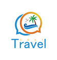 beach travel chat logo vector image