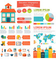 Flat education infographic background vector image