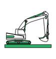 isolated excavator design vector image