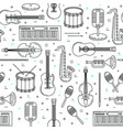 music pattern seamless design vector image
