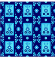 oriental style seamless pattern seven vector image