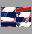 set abstract background design of american vector image