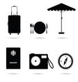 travel icon in black vector image