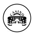 Casino building icon vector image