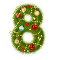 Christmas alphabet number vector image