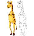animal outline for tall giraffe vector image