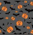 seamless halloween pattern on vector image