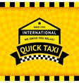 Taxi symbol with checkered background - 12 vector image