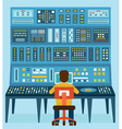 Work place sound engineers vector image